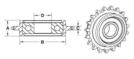Retlaw Sprocket CAD Drawing
