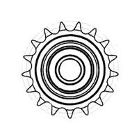 Roller Chain Sprocket Drawing