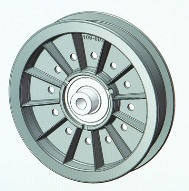 Pulley Wheel CAD Drawing