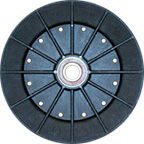 Plastic molded pulley wheel