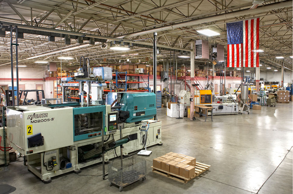Plastic Injection manufacturing plant floor in Hartland Wisconsin